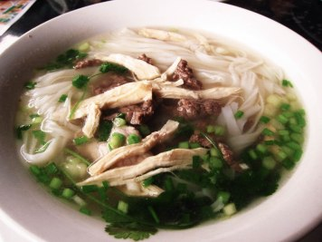 Mixed beef and chicken pho is perfect for the cold weather.
